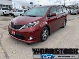 Used 2017 Toyota Sienna SE FWD 8-Passenger  - One owner for sale in Woodstock, ON