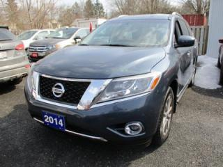 Used 2014 Nissan Pathfinder LOADED SV MODEL 7 PASSENGER 3.5L - V6.. 4WD.. LEATHER.. HEATED SEATS.. HEATED STEERING WHEEL.. NAVIGATION.. BLUETOOTH.. for sale in Bradford, ON