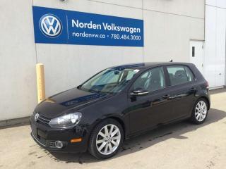 Used 2012 Volkswagen Golf 2.0 TURBO DIESEL HIGHLINE - LEATHER / SUNROOF / NAVI for sale in Edmonton, AB