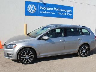 Used 2015 Volkswagen Golf Sportwagon 2.0 TDI SPORTWAGON HIGHLINE - NAVI PKG / LEATHER / SUNROOF / VW CERTIFIED for sale in Edmonton, AB