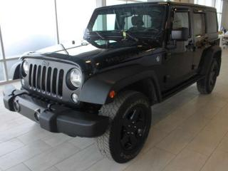 Used 2016 Jeep Wrangler Unlimited 6 SPEED/4X4/CLAIM FREE/ONE OWNER for sale in Edmonton, AB