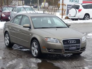 Used 2007 Audi A4 2.0T,AWD,LOW KMS, LEATHER-PWR-HEATED SEATS, LOADED for sale in Mississauga, ON