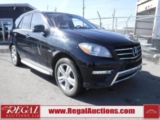 Used 2012 Mercedes-Benz M-CLASS ML350 BLUETEC 4D UTILITY for sale in Calgary, AB