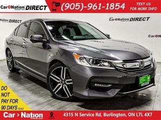 Used 2016 Honda Accord Sport| LEATHER-TRIMMED SEATS| SUNROOF| for sale in Burlington, ON