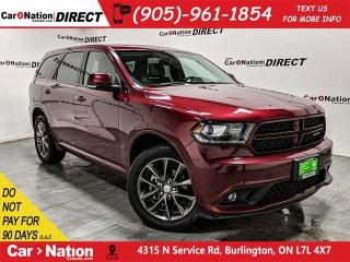Used 2018 Dodge Durango GT| AWD| NAVI| SUNROOF| DUAL DVD| for sale in Burlington, ON
