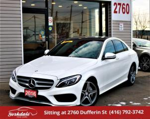 Used 2016 Mercedes-Benz C-Class C300 4Matic, Pan Roof, Navi, Cam, Non Accident for sale in North York, ON
