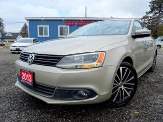 Used 2013 Volkswagen Jetta TDI Highline Leather Sunroof Certified for sale in Guelph, ON