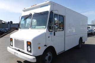 Used 2001 Workhorse P42 Grumman Olsen 14 Foot Cargo Van Diesel with Rear Shelving for sale in Burnaby, BC