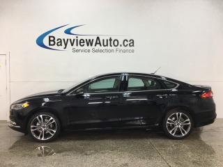 Used 2018 Ford Fusion Titanium - AWD! LTHR! NAV! SUNROOF! for sale in Belleville, ON