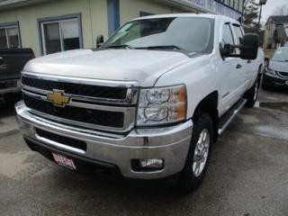 Used 2014 Chevrolet Silverado 2500 3/4 TON DIESEL LT MODEL 5 PASSENGER 6.6L - DURAMAX.. 4X4.. CREW.. 8-FOOT LONG BOX.. CD/AUX INPUT.. BACK-UP CAMERA.. TRAILER BRAKE.. for sale in Bradford, ON