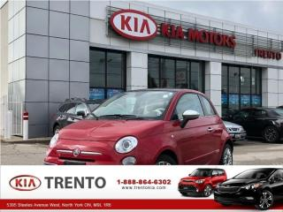 Used 2012 Fiat 500 Lounge/RED Leather/Sunroof/Low Km/One Owner/ for sale in North York, ON