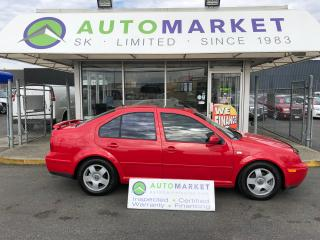 Used 2002 Volkswagen Jetta GLS 2.0 HEATED SEATS! YOU WORK/YOU DRIVE! for sale in Langley, BC