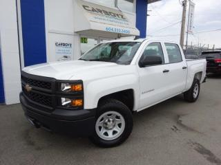 Used 2015 Chevrolet Silverado 1500 Crew Cab 6.6 Box, 2WD, 4.3L V6, One Owner for sale in Langley, BC
