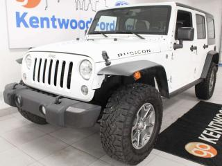 Used 2015 Jeep Wrangler Unlimited Unlimited trail rated rubicon with heated leather seats for sale in Edmonton, AB