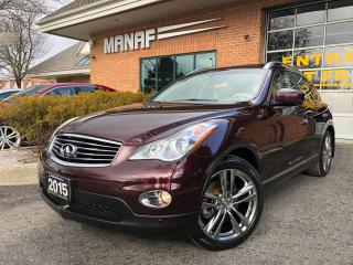 Used 2015 Infiniti QX50 AWD Journey PKG Sunroof Rear Cam Park Assist Cert* for sale in Concord, ON