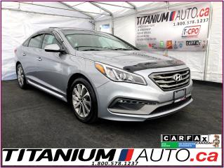 Used 2015 Hyundai Sonata Sport-GPS-Camera-Pano-Heated Leather-Blind Spot-XM for sale in London, ON