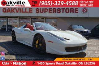 Used 2015 Ferrari 458 ITALIA CARBON INT | LOADED | RED INTERIOR | RARE SPEC for sale in Oakville, ON