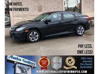 Used 2017 Honda Civic Sedan LX *Htd Seats/Bluetooth/Backup Cam for sale in Winnipeg, MB