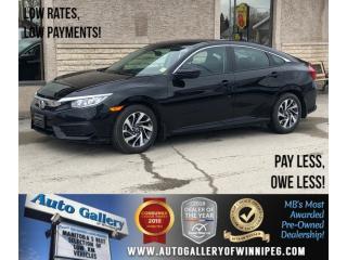 Used 2016 Honda Civic Sedan EX *Htd Seats/Bluetooth/Backup Cam/Roof for sale in Winnipeg, MB