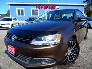 Used 2013 Volkswagen Jetta TDI Highline Navi Camera Leather Roof Certified for sale in Guelph, ON