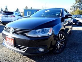 Used 2014 Volkswagen Jetta TDI Highline Leather Sunroof Certified for sale in Guelph, ON