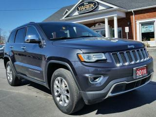 Used 2016 Jeep Grand Cherokee Limited 4x4, Heated/Vented Leather Seats, NAV, Tech Pkg, Tow Pkg, Remote Start for sale in Paris, ON