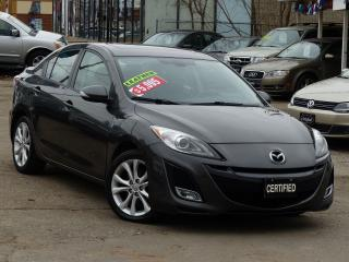 Used 2010 Mazda MAZDA3 GT ,NO-ACCIDENTS,NAVIGATION,LEATHER, FULLY LOADED for sale in Mississauga, ON