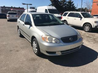 Used 2003 Toyota Corolla AUTO,277KM,$3200,SAFETY+3YEARS WARRANTY INCLUDED for sale in Toronto, ON