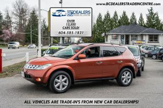 Used 2003 Nissan Murano SE AWD, Local, No Accid., Leather, Sunroof, Loaded for sale in Surrey, BC