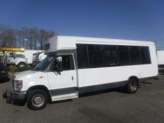 Used 2009 Ford E450 22 Passenger Bus Diesel with Wheelchair Accessibility for sale in Burnaby, BC