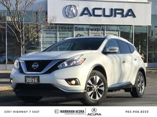 Used 2016 Nissan Murano SL AWD CVT Navi, 360 Camera, Remote Starter for sale in Markham, ON