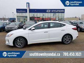 Used 2019 Hyundai Elantra LUXURY/APPLE CAR PLAY/BLIND SPOT DETECTION/LEATHER/BACKUP CAMERA for sale in Edmonton, AB