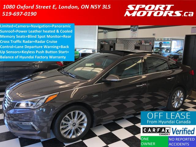 2015 Hyundai Sonata Limited+GPS+Camera+Pano+Lane Assist+Radar Cruise