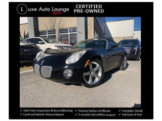 Used 2006 Pontiac Solstice CONVERTIBLE! 5-SPEED MANUAL! GREAT SHAPE! for sale in Orleans, ON
