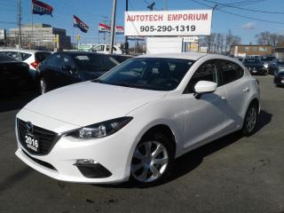 Used 2016 Mazda MAZDA3 Pearl White Navigation/Camera/Bluetooth for sale in Mississauga, ON