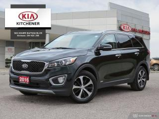 Used 2016 Kia Sorento AWD EX Turbo - ONE OWNER for sale in Kitchener, ON
