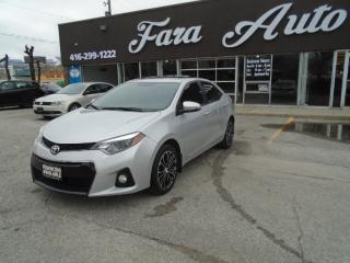 Used 2015 Toyota Corolla S LEATHER SEATS & SUNROOF & BACKUP CAMERA for sale in Scarborough, ON