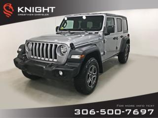 New 2019 Jeep Wrangler Unlimited Sport 'S' for sale in Regina, SK