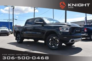 Used 2019 RAM 1500 Rebel Crew Cab | Heated Seats and Steering Wheel | Sunroof | Navigation for sale in Swift Current, SK