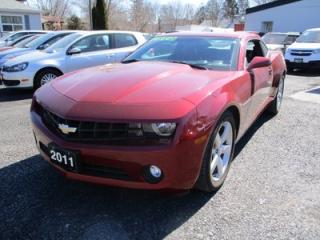 Used 2011 Chevrolet Camaro SPORTY 2-LT MODEL 4 PASSENGER 3.6L - V6.. LEATHER.. HEATED SEATS.. BOSTON AUDIO.. BLUETOOTH.. for sale in Bradford, ON