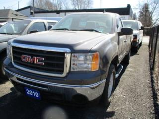 Used 2010 GMC Sierra 1500 WORK READY SLE MODEL 3 PASSENGER 5.3L - V8.. 4X4.. REGULAR CAB.. LONG BOX.. CD/AUX INPUT.. KEYLESS ENTRY.. TOW SUPPORT.. for sale in Bradford, ON