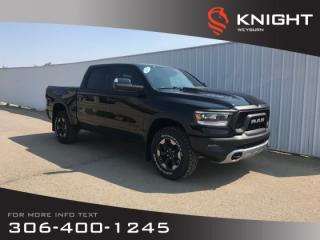 New 2019 RAM 1500 Rebel Crew Cab | Heated Seats | Heated Steering Wheel | Sunroof | Navigation for sale in Weyburn, SK