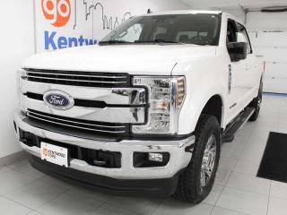 Used 2019 Ford F-350 Super Duty SRW Lariat FX4 off road 6.7L Power Stroke Turbo Diesel with NAV, sunroo, heated/cooled power leather seats, heated rear seats, back up cam and keyless entry for sale in Edmonton, AB
