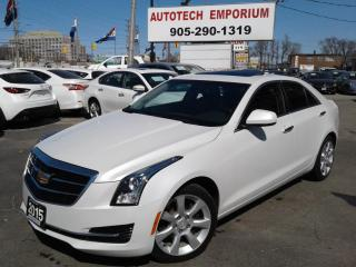 Used 2015 Cadillac ATS Prl White AWD Lther/Sunroof/Camera/Hted Sts&ABS* for sale in Mississauga, ON