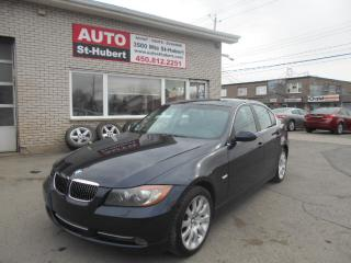 Used 2007 BMW 335i PREMIUM + NAV for sale in St-Hubert, QC