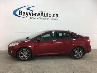 Used 2014 Ford Focus SE - AUTO! HTD LTHR! NAV! SUNROOF! GREY WHEELS! for sale in Belleville, ON