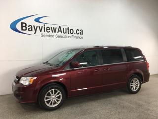 Used 2018 Dodge Grand Caravan CVP/SXT - DVD! NAV! PWR DOORS! PWR LIFTGATE! LTHR TRIM! for sale in Belleville, ON