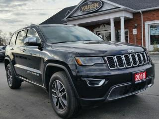 Used 2018 Jeep Grand Cherokee Limited 4x4, NAV, Pano Roof, Leather Heated/Vented Seats, Back Up Cam/Sensors, Remote Start for sale in Paris, ON