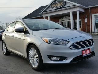 Used 2018 Ford Focus Titanium, Leather Heated Seats/Wheel, Sunroof, Back Up Cam, Remote Start for sale in Paris, ON