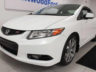 Used 2012 Honda Civic Cpe SI 6-SPD FWD Manual with a sunroof for sale in Edmonton, AB